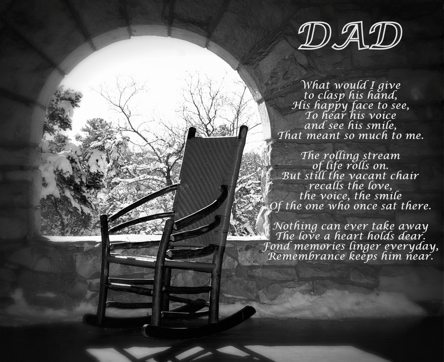 Missing Dad Poem Dad's Empty Chair Remembering Dad Poem