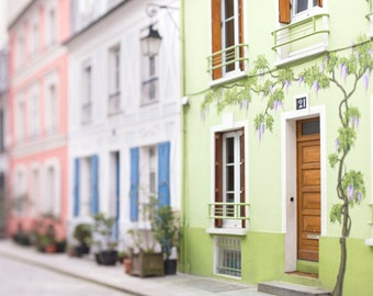 Paris Photography - Rue Cremieux, Street Architecture Photography, France Travel Fine Art Photograph, French Home Decor, Large Wall Art
