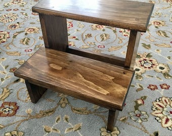 Handmade Wooden Step Stool