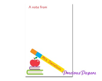 Personalized Teacher note pads Personalized teacher gift note pads Personalized teacher memo pads