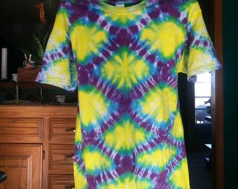 Tie Dye Adult L T Shirt, Fish Scale
