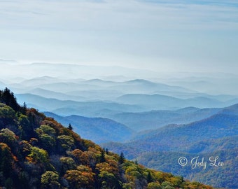Blue Ridge Mountains, Mountain Photograph,Smoky Mountains, North Carolina, 10x15, BRP, Landscape Photography, Nature, Wall art
