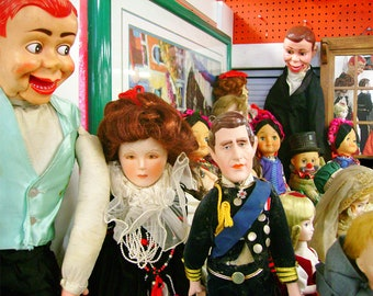 Photo Print - Thrift Store Dolls featuring Prince Charles and Charlie McCarthy