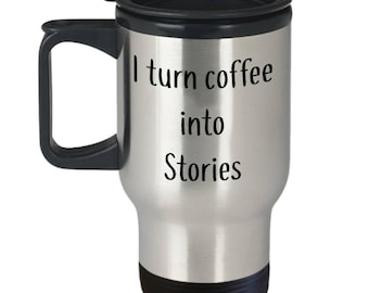 Writer Author Gift Insulated Stainless Steel 14oz Travel Coffee Tea Mug