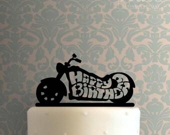 Happy Birthday Motorcycle 100 Cake Topper