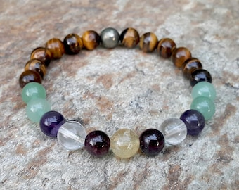 Prosperity & Wealth Bracelet, Abundance Bracelet, Wealth Crystals, Attract Money, Good Luck Bracelet, Prosperity Jewelry, Success Bracelet