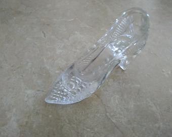 Vintage princess glass slipper
