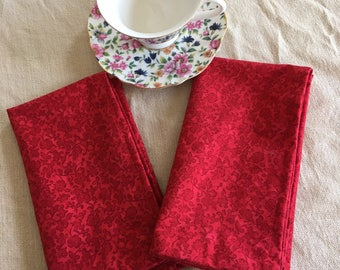 NEW! Red on Red Napkins (set of 2)