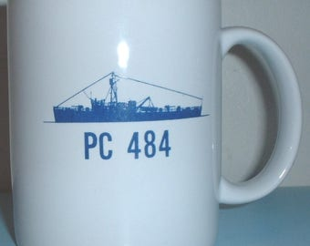 USN US Navy PC 484 Patrol Craft Sailors Association coffee mug