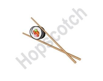 Sushi And Chopsticks - Machine Embroidery Design