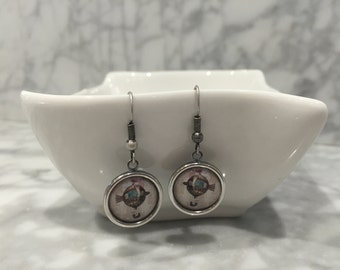 Antique Silver Vintage Style Hot Air Balloon Earrings