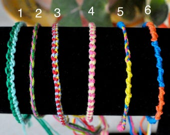Custom Friendship Bracelets/Anklets (Thin)