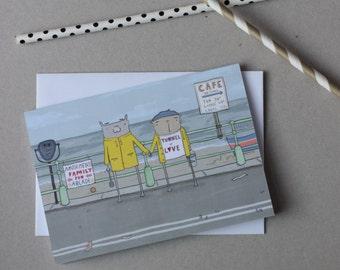 Romantic weekend by the seaside card