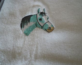 personalized machine embroidered Terry towel