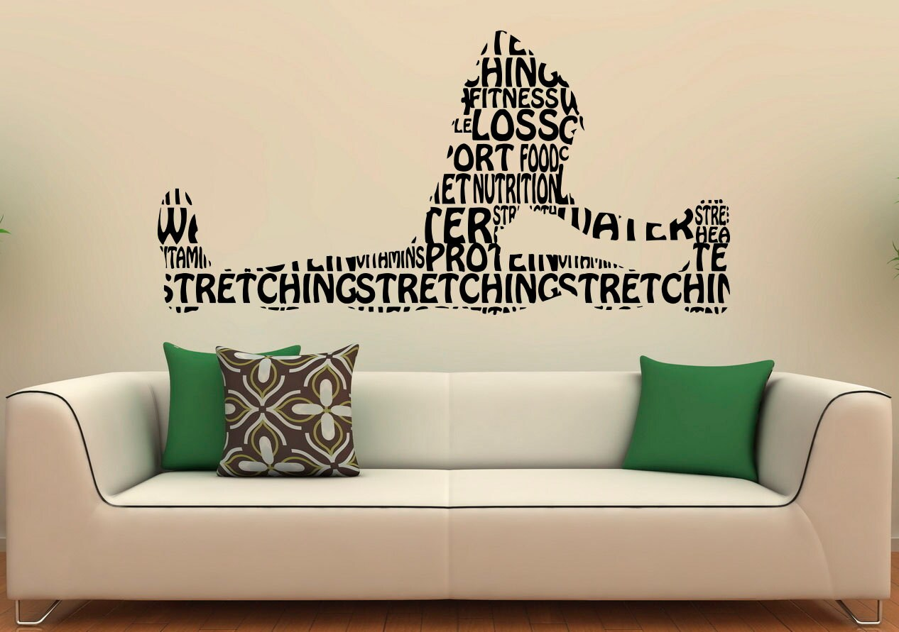 Fitness Wall Decal Gym Wall Stickers Sports Interior Bedroom