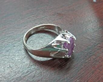 Ruby Zoisite Ring - Men's or Women's Ruby Zoisite Ring - Size 9 Sterling Silver & Ruby Zoisite Ring