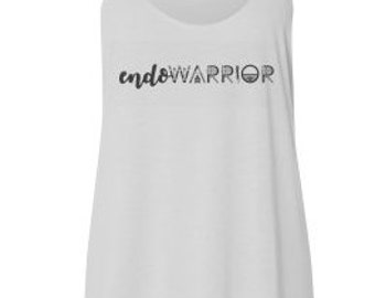EndoWarrior White Flowy Tank Top // Endometriosis Awareness // Fitness // Workout // Causes // Relaxed Fit