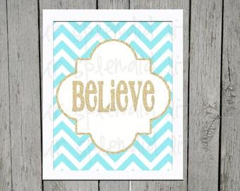 Christmas Believe Digital 8 x 10 Print