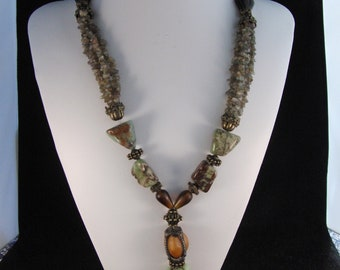 Multiple stones necklace by Maya