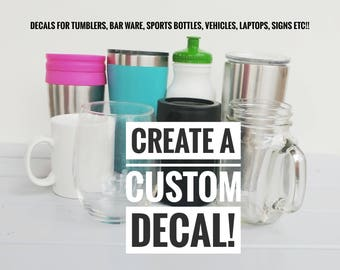 Cup Decal Etsy - Vinyl stickers for cups