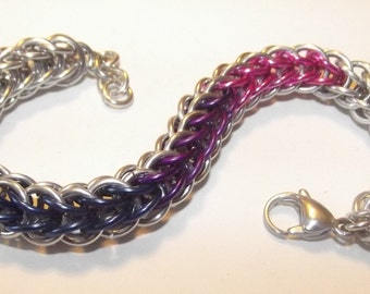 Full Persian Pride Chainmaille Bracelet