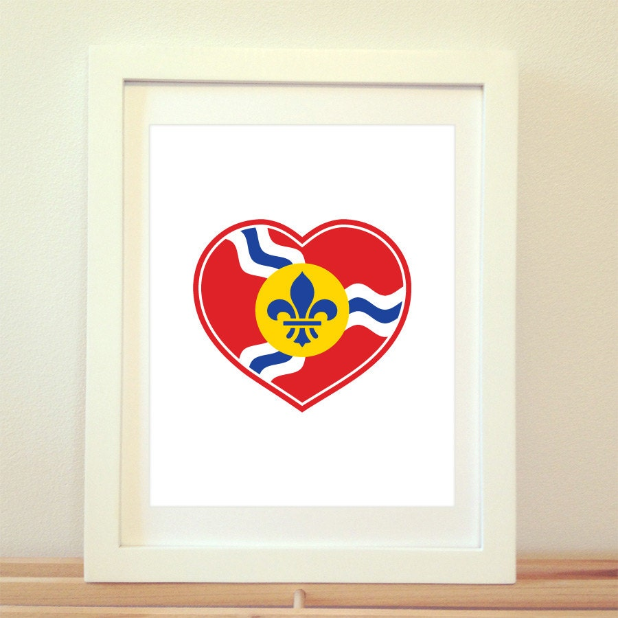 STL Love St Louis Heart Print Saint Louis St Louis St