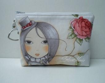 "Make-up bag ""Lucy"" girl/rose"