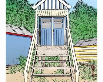 Holkham Beach Hut Print