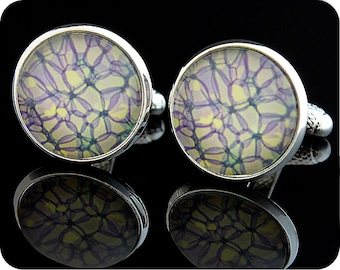 Science cufflinks - gift for men - Rose stem section under the microscope - Biology Cuff links - Scientist gift - Science gift - Rose (CL1)