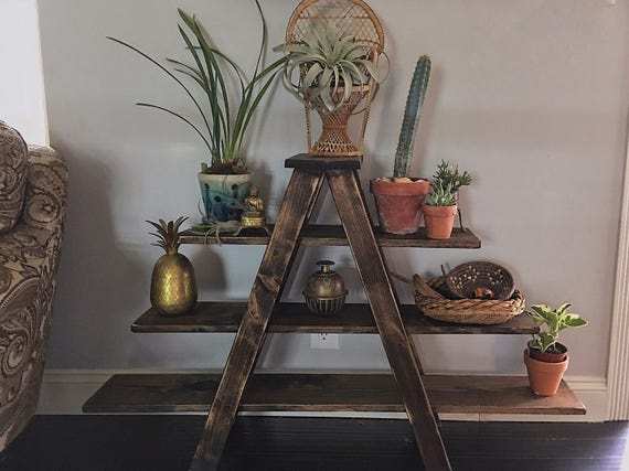 A Frame Shelf Ladder Rustic Home Decor Furniture