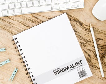 2017-2018 Minimalist Academic Day Planner