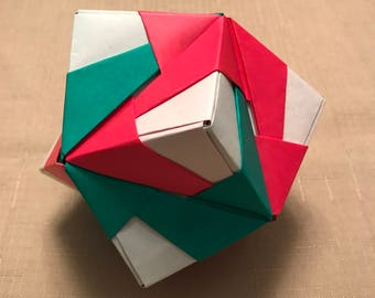 Holiday origami ornament