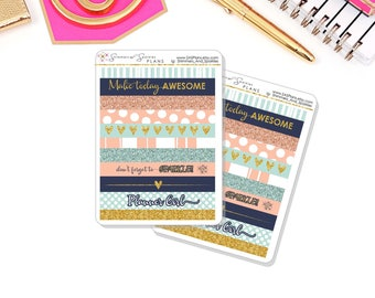 Blush and Blues Colorway Washi Planner Stickers, Washi Stickers - For use in Happy Planners / Erin Condren Planners / Personal / TN Inserts
