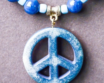 Blue Peace Necklace