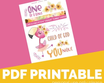 YOUnique Printable, Digital Bible Journaling, Margin Stickers, Bookmarks, Sticker Printable