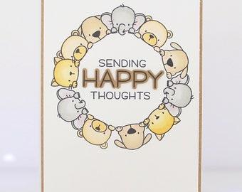 HandmadeCard - My Favorite Things - Sending Happy Thoughts