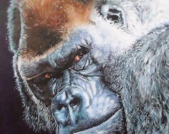 Gorilla Print - Mounted