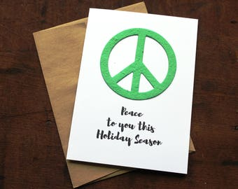 NEW** Peace to you this holiday season - 19 Seed Paper Shapes Available
