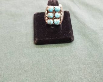 Vintage turquoise Sterling ring Size 10.5