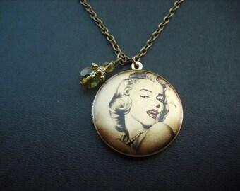Marilyn Monroe Vignette locket necklace