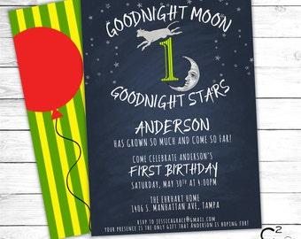 Goodnight Moon Birthday Invitation