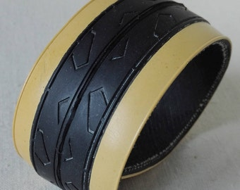 bracelet from road bike tire, beige