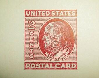 10 Vintage 2 Cents United States Postal Card Postcard Lot