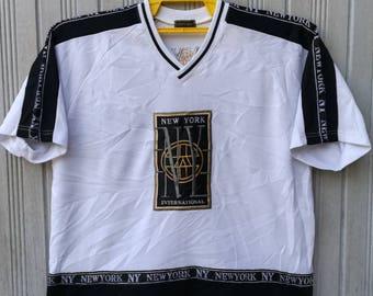 Vintage New York USA International TShirt Hip Hop Size XL