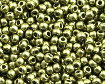 11/0 TOHO Beads * Hybrid Metallic primrose YELLOW *-TR-11-YPS0077-Beads, 2.2 mm-10 g