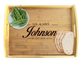 Serving Tray Wood, Engraved Serving Tray, Serving Tray Personalized, Engraved Serving Tray, Personalized Platter, Wooden Tray, Custom Tray