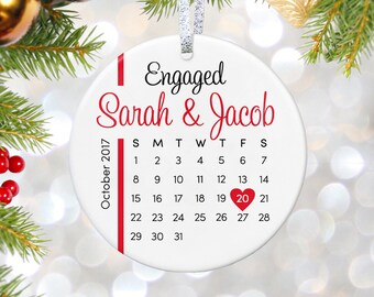 Engagement Gift Ornament Engagement Ornament, Wedding Ornament, Personalized Ornament Bridal Shower Gift for Bride to Be