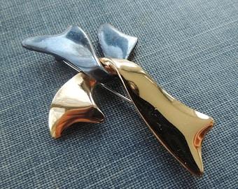 Vintage Premier Designs Cross Brooch / Two Tone Brooch / Estate Jewelry / Vintage Cross Brooch / Mid Century Brooch / Vintage Cross Pin