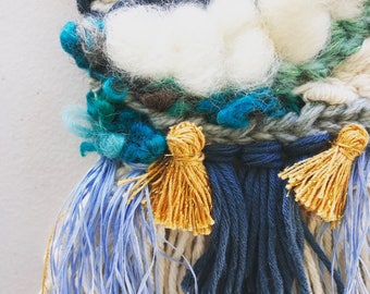 11 Woven Wall Hanging - Santorini, Wall Art Weaving, Nursery Decor, Weave, Texture