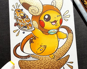 Pikachu - Alolan Raichu Costume [ORIGINAL]